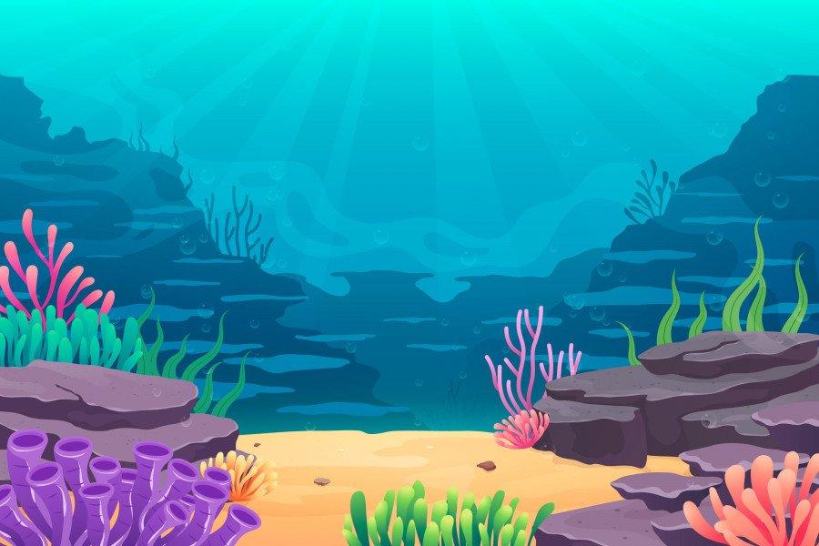 وکتور کف دریا