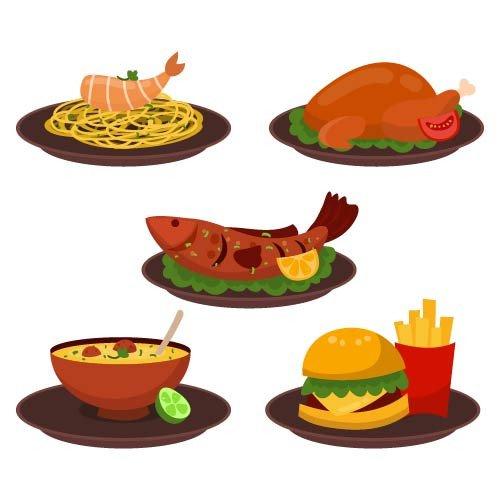 وکتور غذای ایرانی
