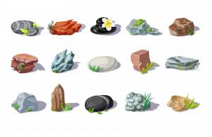 وکتور انواع سنگ