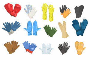وکتور انواع دستکش