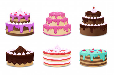 وکتور کیک تولد